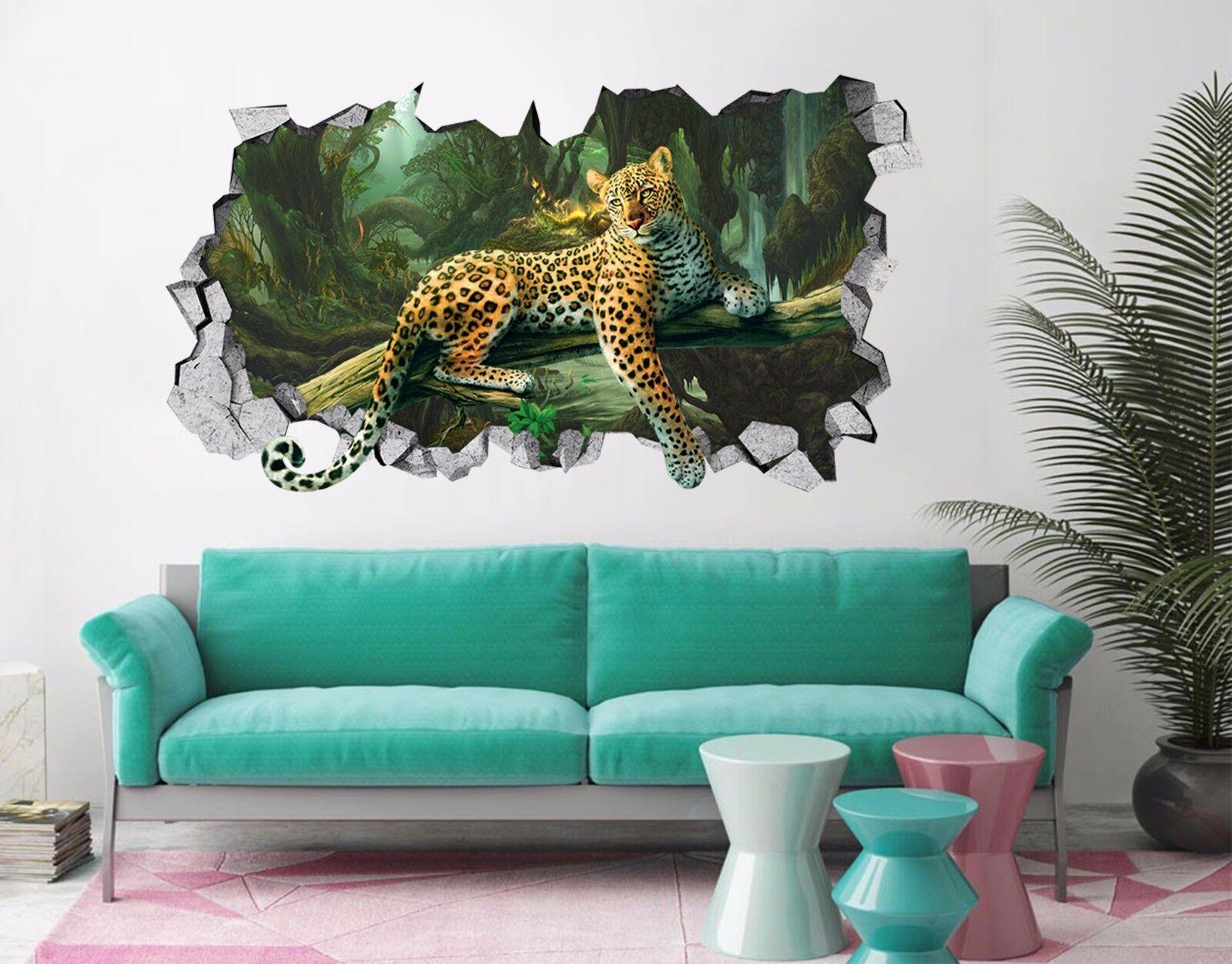 3D Waldleopard 55 Mauer Murals Aufklebe Decal Durchbruch AJ WALLPAPER DE Lemon