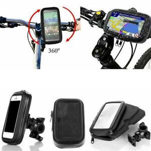 Waterproof Motorcycle Bicycle Cell Phone GPS Holder Bike Handlebar Mount Case