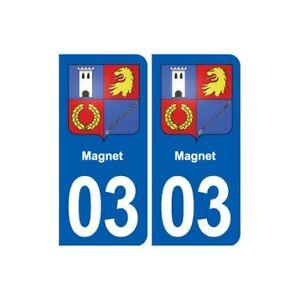 03 Magnet Blason Ville Autocollant Plaque Stickers