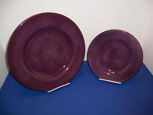 Tabletops-Unlimited-Corsica-Plum-Purple-Dinner-Plate-11-25-amp-Salad-Plate