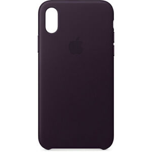 the best attitude 5c4b4 3ab60 Details about Apple iPhone X Leather Case - Dark Aubergine