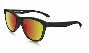 0b7804de1f1 Image is loading Oakley-Moonlighter-Matte-Black-Ruby-Iridium-Polarized-Lens-