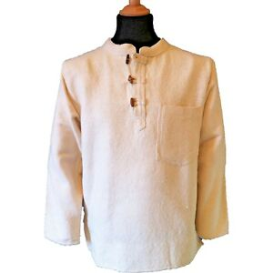 Thick-Cotton-Hippy-Long-Sleeved-Toggle-Grandad-Ghillie-Shirt-in-Cream