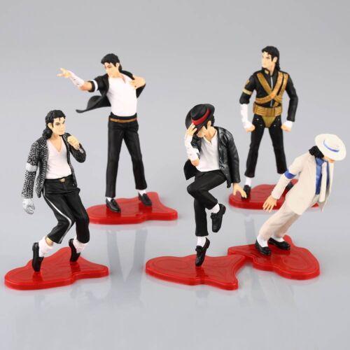 "5X King of Pop Michael Jackson Model 4/"" Figures 5 Pose Figurines Set Doll Statue"