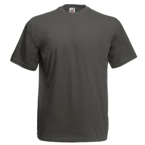 Fruit of the Loom Mens Value Weight Crew Neck Self-fabric Cotton T-Shirt S-5XL