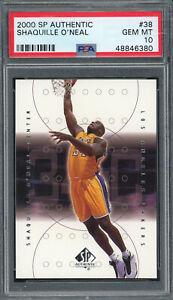 Shaquille O'Neal 2000 SP Authentic Upper Deck Basketball Card #38 PSA 10 GEM MT
