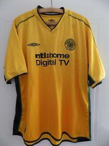 online store 91fb6 54909 Details about RARE 2002 2003 Umbro Celtic FC Glasgow Football Shirt Retro  Soccer Away XXL