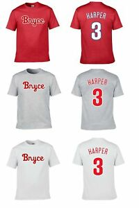 BRYCE-HARPER-3-PHILLIES-TEAM-CUSTOM-LOGO-PLAYER-NAME-amp-NUMBER-JERSEY-T-SHIRT