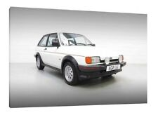 1989 Ford Fiesta XR2 - 30x20 Inch Canvas - Framed Picture Print Wall Art