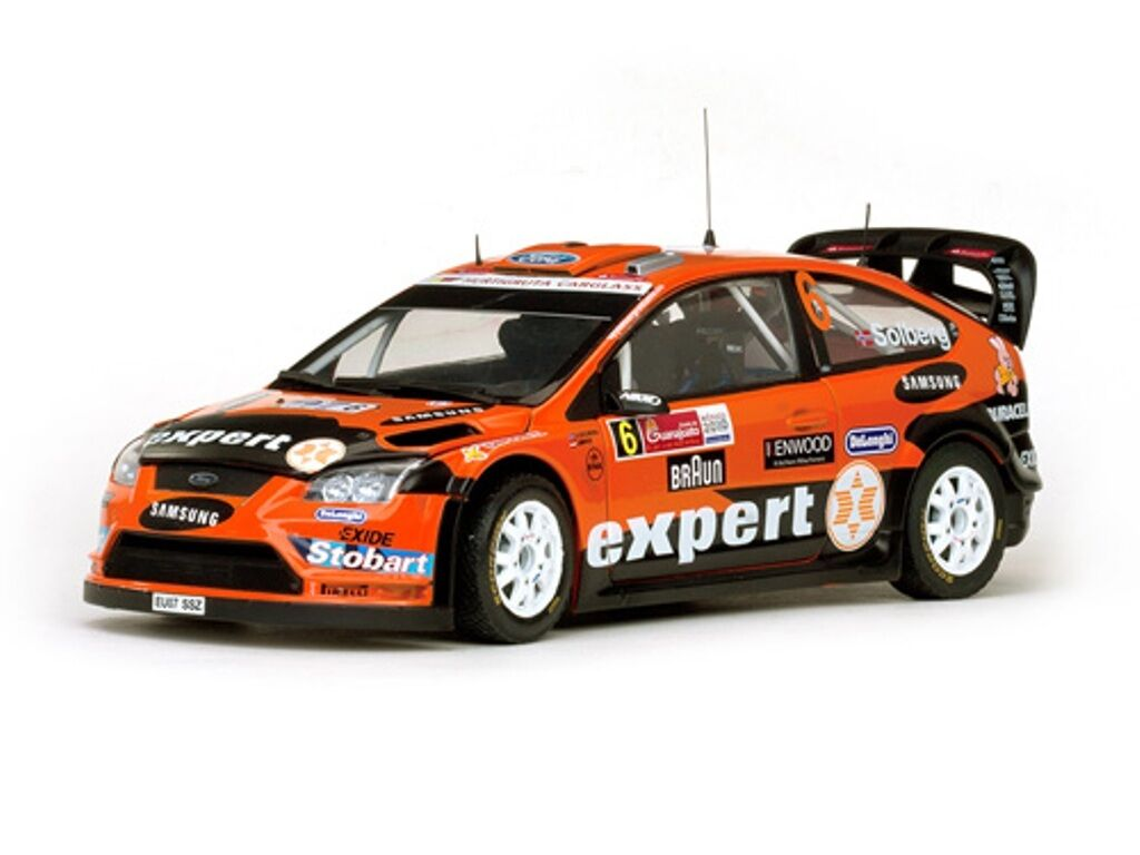 SUNSTAR 3952 FORD FOCUS RS WRC08 Auto da Rally Solberg & minor MEXICO 2010 1:18th