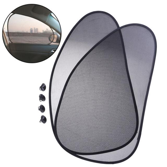 1Pair Car Rear Window Sunshade Sun Shade Cover Visor Mesh Shield UV   ^P