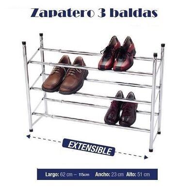 Zapatero 3 baldas metalico