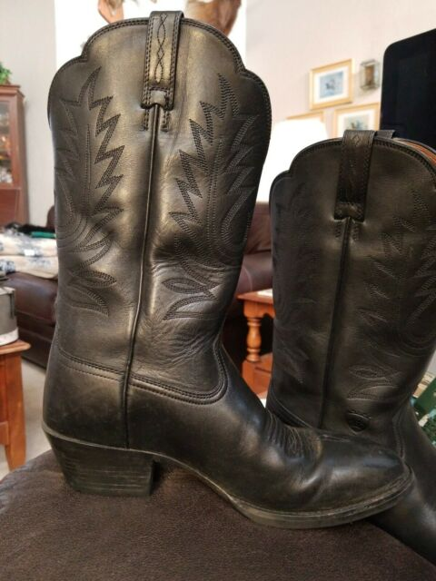 Womens Size 7.5 C ARIAT HERITAGE WESTERN 15701 Cowgirl Western Black Boots