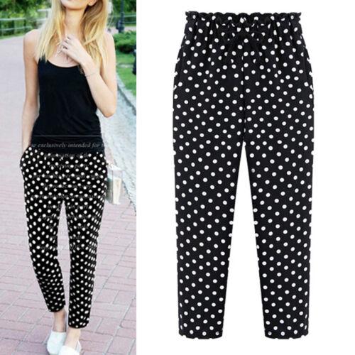 New Women Ladies Casual Long Pants Trousers AU Size 12 14 16 18 20 22 #6186