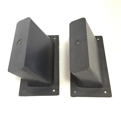 "10 Pieces 5.5/"" x 3.5/"" DJ Speaker Box Black Plastic Pocket Handles Enclosure"