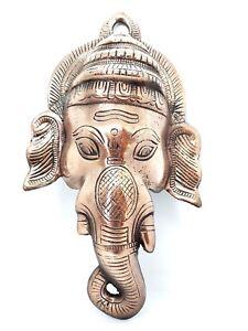 Ganesh-Ganesha-Elephant-God-Large-Metal-Wall-Plaque-Mask-12-inch-Cast-Diwali