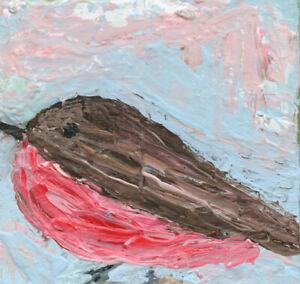 Rosefinch Bird Miniature Animal Art Bird Painting Katie Jeanne Wood