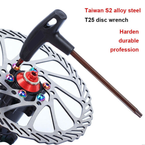 T Handle Duo Hex Bicycle Tool Allen Wrench Set Bike Cycling Rotor Screws 6A