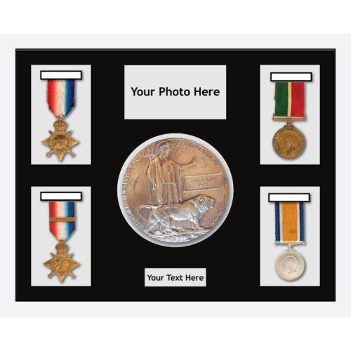 1-Noir Mount Médaille soleil guerre mondiale médailles militaires 4 et plaque commémorative