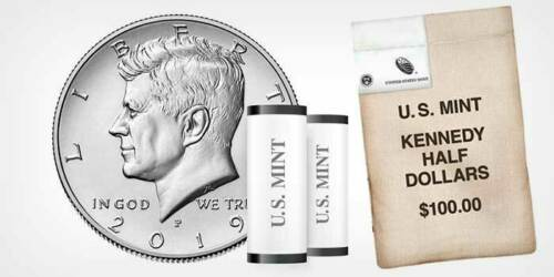 2019 P President Kennedy Half Dollar Fifty Cents Coin U.S Mint Coins Money