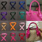 1Pcs Women Fashion Pure Color Bag's Handle Silk Scarves Silk Blend Scarf Scarves