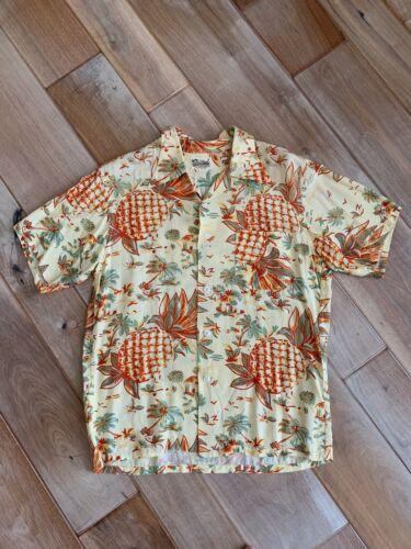 Rare Vintage 40s Aloha Pineapple Palm Tree Rayon H
