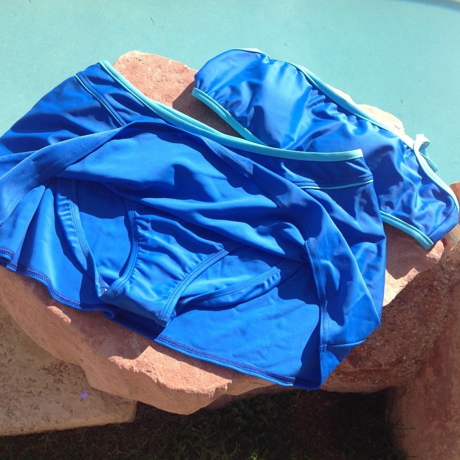 VM SPORT blueE SKIRTED SKIRTED SKIRTED SWIMWEAR BEACH BIKINI - XLARGE 16 472858
