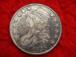 1828-BUST-HALF-DOLLAR-SQ-BASE-2-LG-8-VARIETY-COIN-LOADS-OF-DETAIL