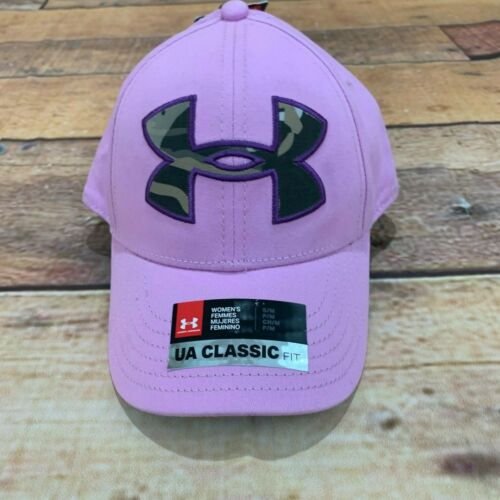 Under Armour Women/'s S//M Pink Hat Baseball Cap Hat Camo Logo Size SM//MD NEW NWT