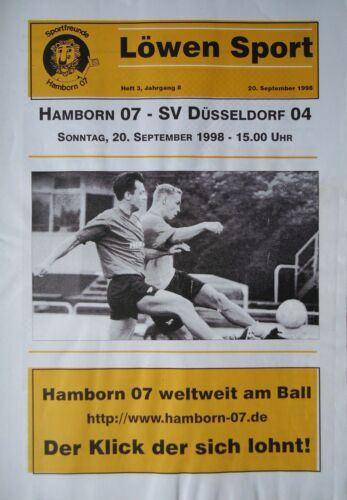 SV Düsseldorf 04 Programm 1998//99 SF Hamborn 07