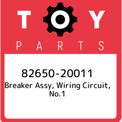 WIRING CIRCUIT 82650-20011 8265020011 Genuine Toyota BREAKER ASSY