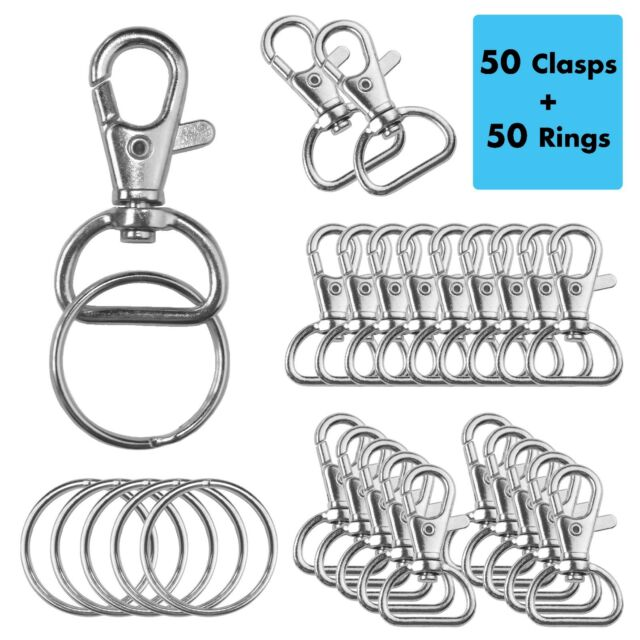 4X Metal Swivel Lobster Clasps Clips Trigger Lanyard Snap Hook D-ring 1 inch
