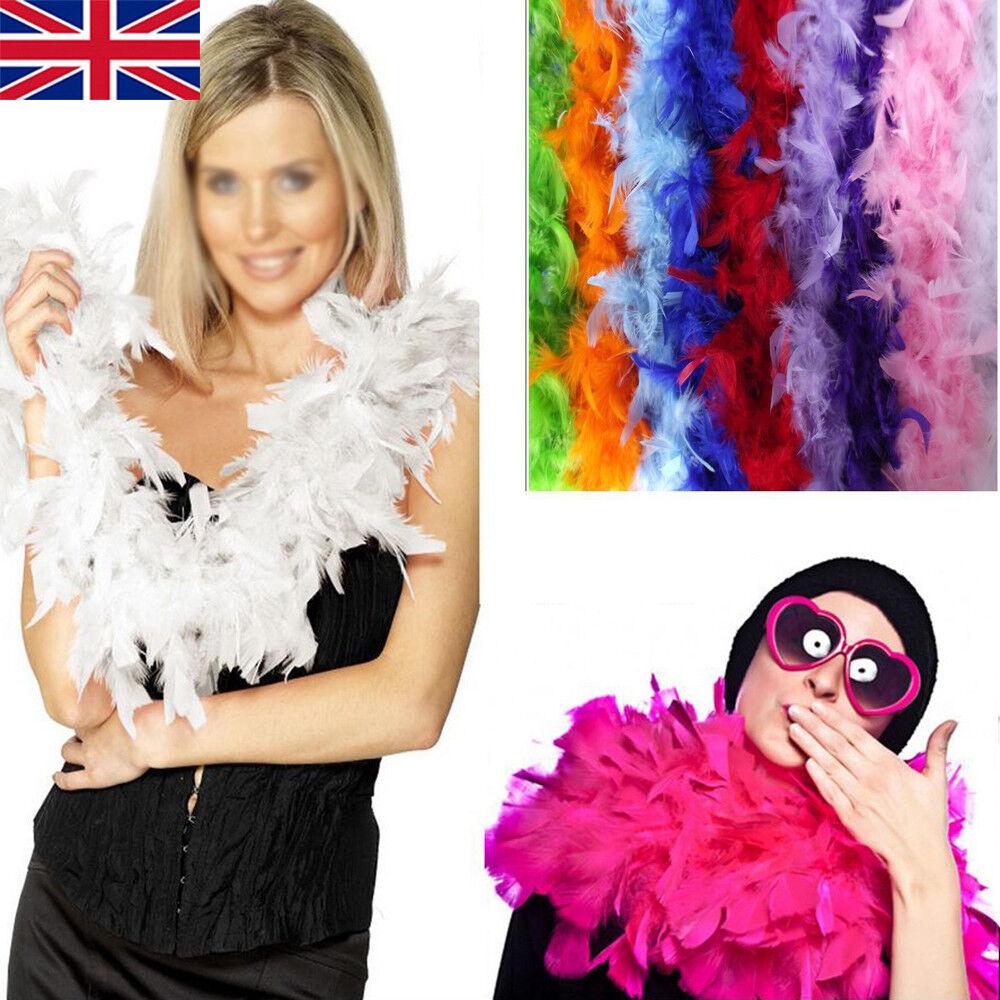 2M Feather Boa Strip Fluffy Craft Costume Fancy Dress Wedding Xmas Party Decor 2