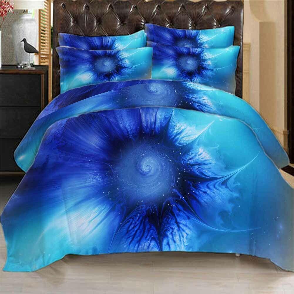 bleu Eyes Spread 3D impression Duvet Quilt Doona Covers PilFaible Case Bedding Sets