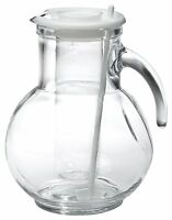 Bormioli Rocco Kufra Glass Jug With Ice Container And Lid, 72 3/4 Oz , New, Free