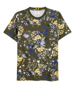 Erdem Floral Shirt Motif Sml amp;m Neuf Kaki X H T Navire Vert m0vN8nOwy
