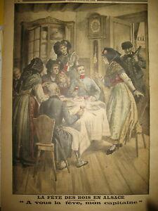 WW1-Gal-HUMBERT-ALSACE-FETE-DES-ROIS-GALETTE-FEVE-OFFICIER-LE-PETIT-JOURNAL-1917