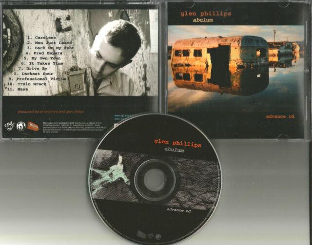 Toad the Wet Sprocket GLEN PHILLIPS Abulum USA 2000 ADVNCE PROMO DJ CD MINT