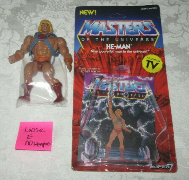 He-Man Masters of the Universe He-Man Figure Super 7 Mattel Unpunched Card 5.5/""