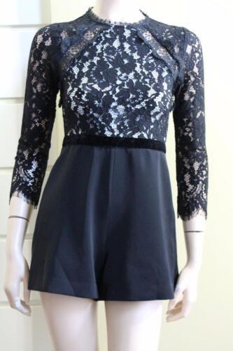 NEW AUTH Alexis TAMMY ROMPER in Black//White $473