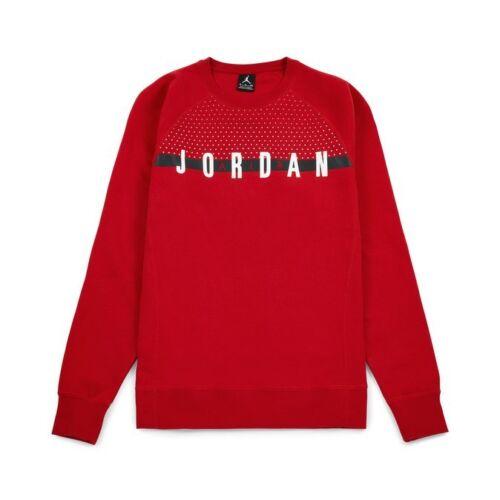 AUTHENTIC NIKE AIR JORDAN SEASONAL GRAPHIC LS RED SWEATSHIRT AJ3280 845389-687