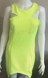 City-Beach-Luvalot-Women-039-s-Dress-size-12-BNWT-Bright-Citrus-Green-Bodycon