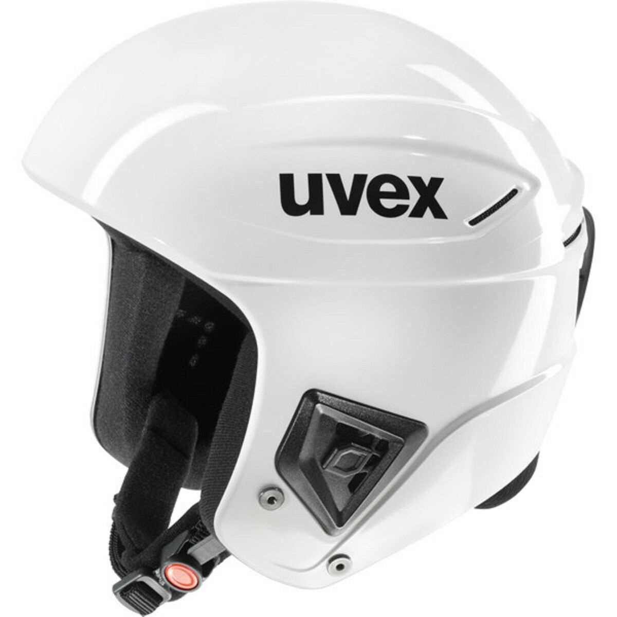 UVEX Race + all white Skihelm white