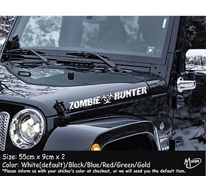 Zombie Hunter Funny Car Jeep Stickers Jdm Suv Boat Decals