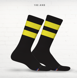 100 Years of the Tour de France Black//Yellow Cycling Socks by Suarez