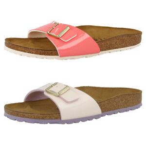 Details zu Birkenstock Madrid Birko Flor Lack Schuhe Damen Sandalen Pantoletten Hausschuhe