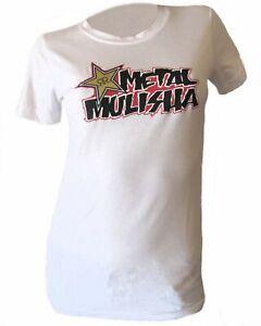 017605c80 Metal Mulisha Women's White Rockstar Works Basic Short Sleeve ...