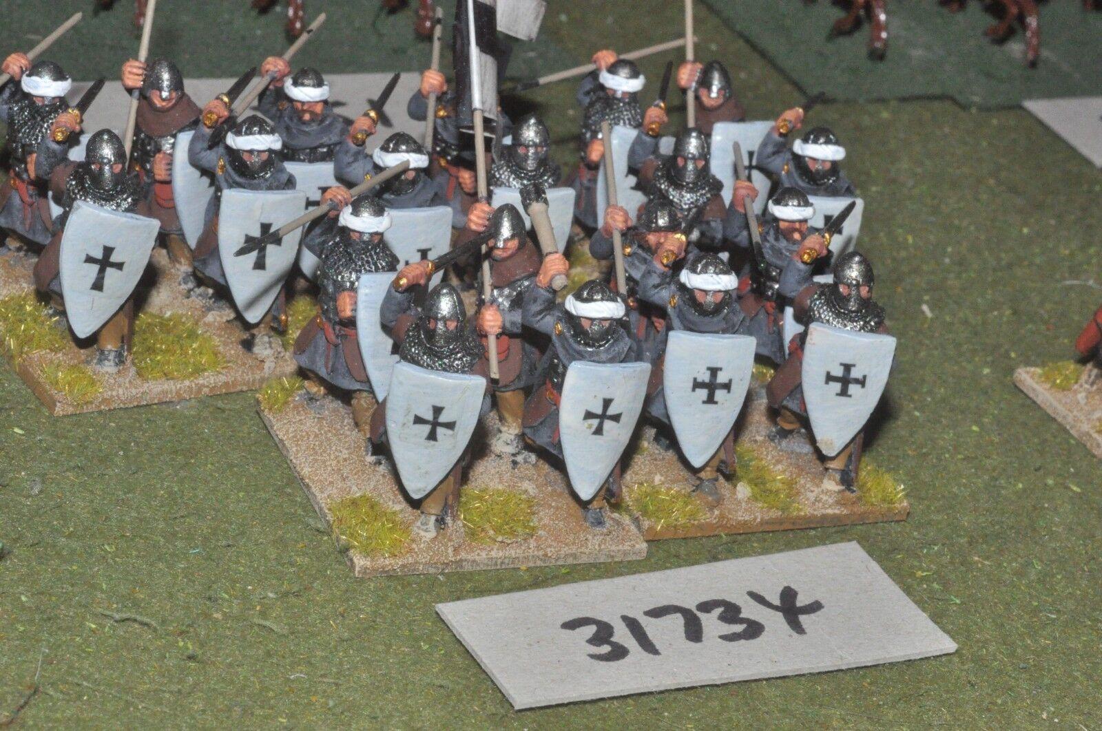 25mm medieval   crusader - spearmen 20 figures - inf (31734)