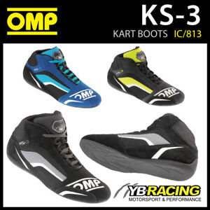 IC/813 OMP KS-3 KS3 KART KARTING BOOTS SUEDE LEATHER in 3 COLOURS
