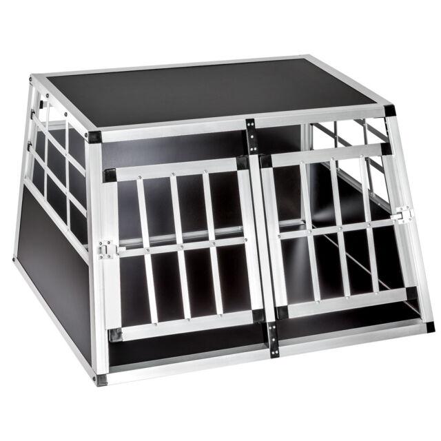 Cage box caisse de transport chien mobile aluminium XXL double nouveau